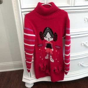 Other - Red Girl's Sweater Dress